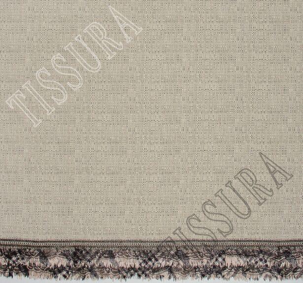 Tweed Fabric with Lace & Taffeta Border #3