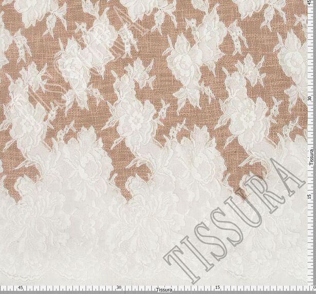 Lace Appliqued Boucle Fabric #2