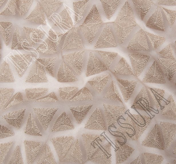 Triangle Embroidered Tulle #4