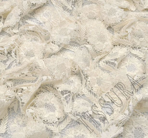 Swarovski Appliqued Guipure Lace #4