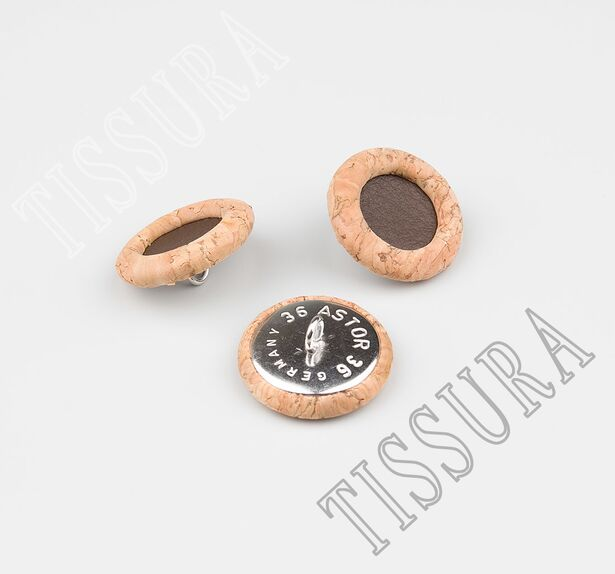Cork Wood & Leather Buttons #3