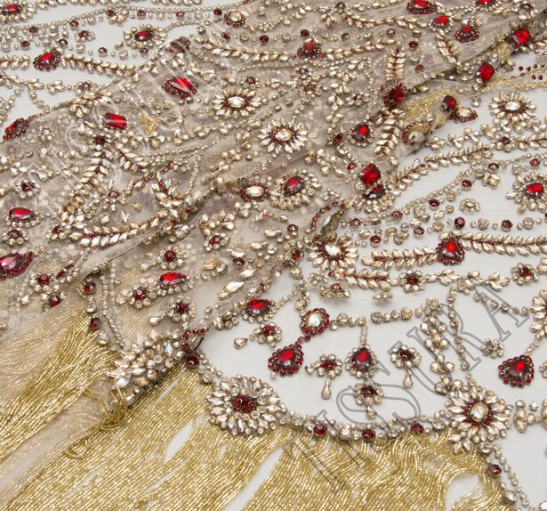 Rhinestone Embroidered Tulle #1