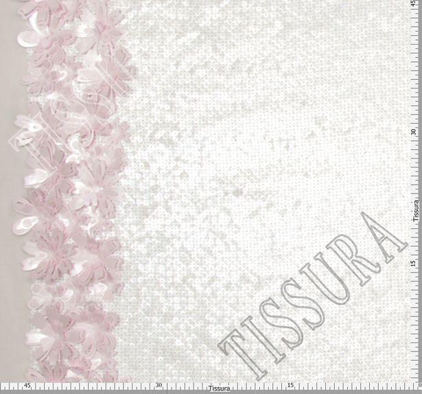 Floral Applique Sequined Chiffon #2