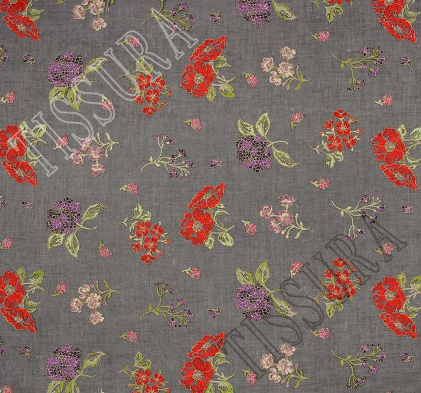 Embroidered Cotton Organdy #3