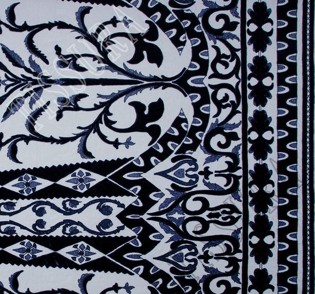 Velvet Applique Embroidered Tulle  #3
