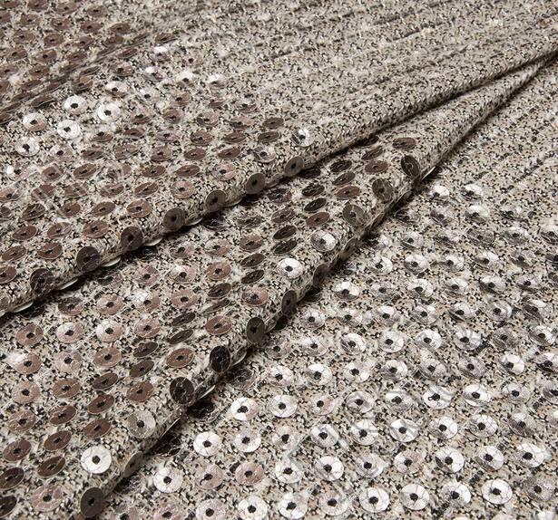 Laser Cut Appliqued Tweed Boucle #1