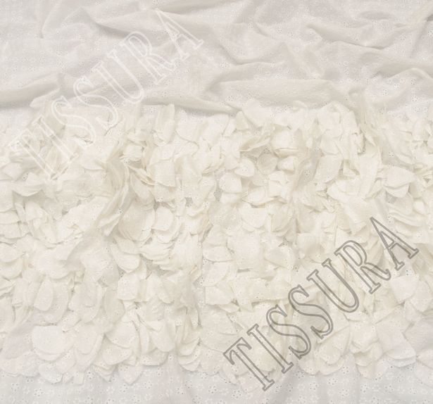 Floral Applique Embroidered Cotton #3