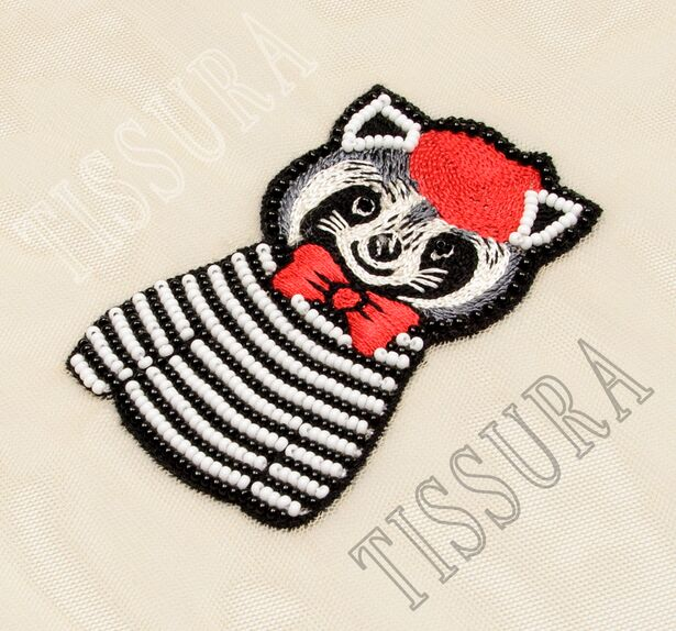 Beaded Embroidered Patch #3