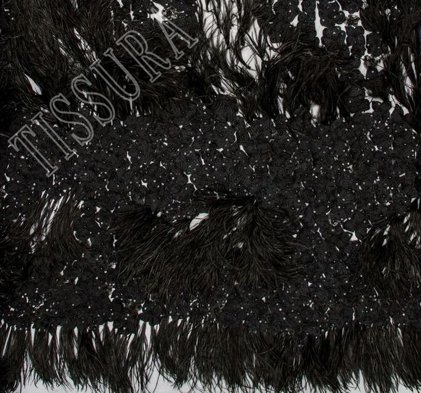 Feather Embroidered Tulle #2