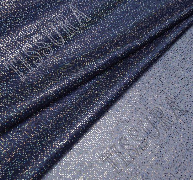 Foil Appliqued Silk Organza #1
