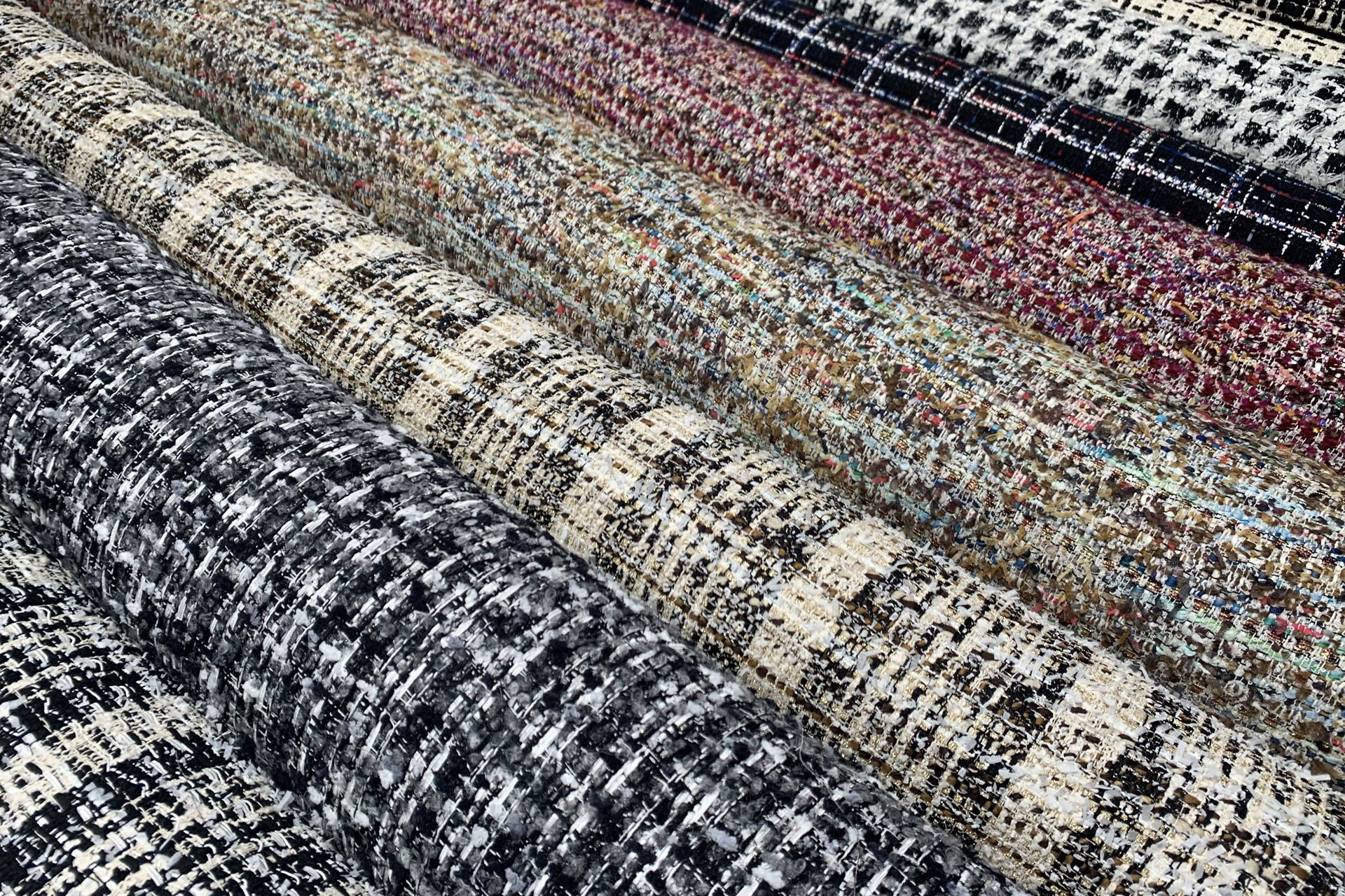 TWEED BOUCLE FABRICS FROM FRANCE