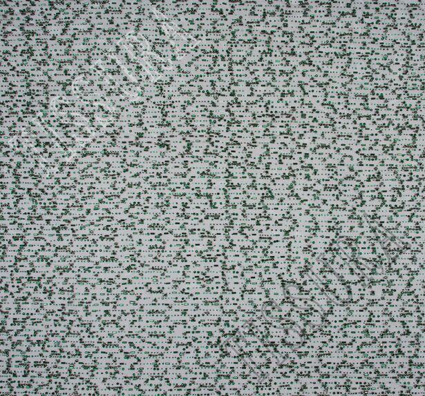 Rhinestone Embroidered Tulle #3