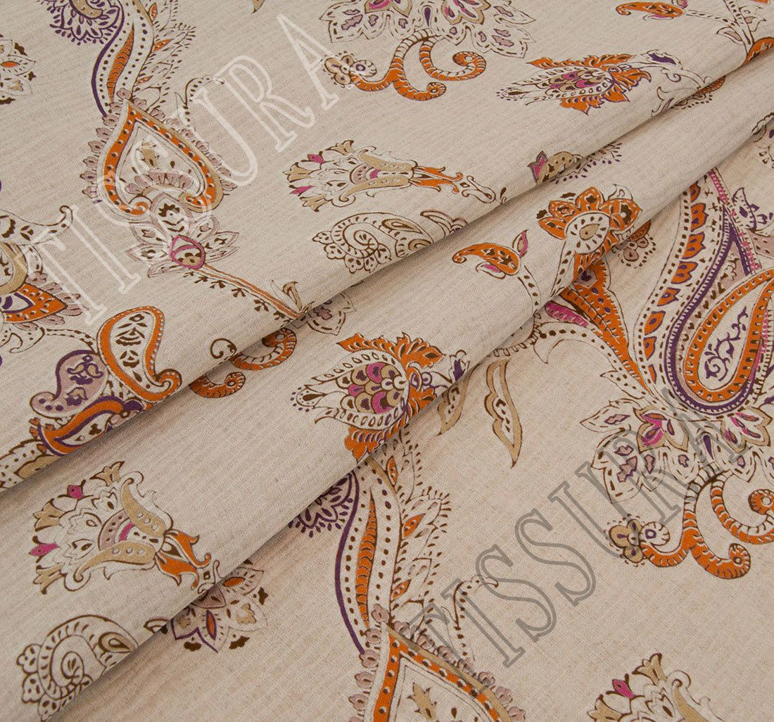 Crushed linen silk fabric fabrics from italy by etro for Purchase fabric by the yard