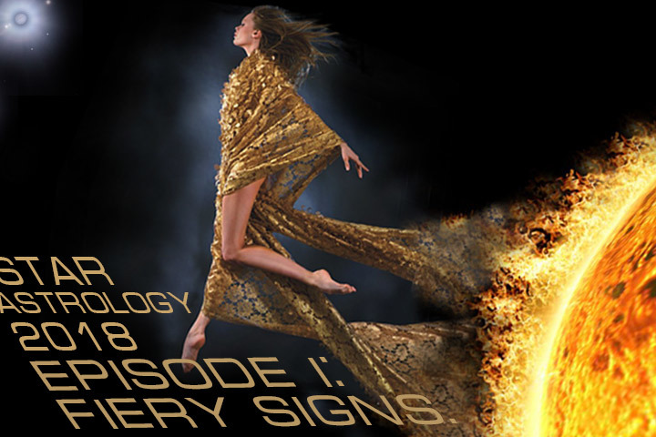 Fabric astrology 2018, fiery signs