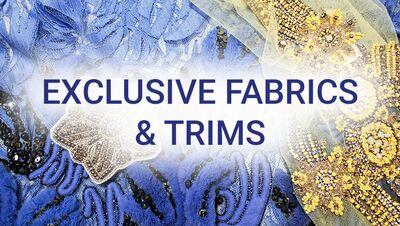 Sale — exclusive fabrics + trims