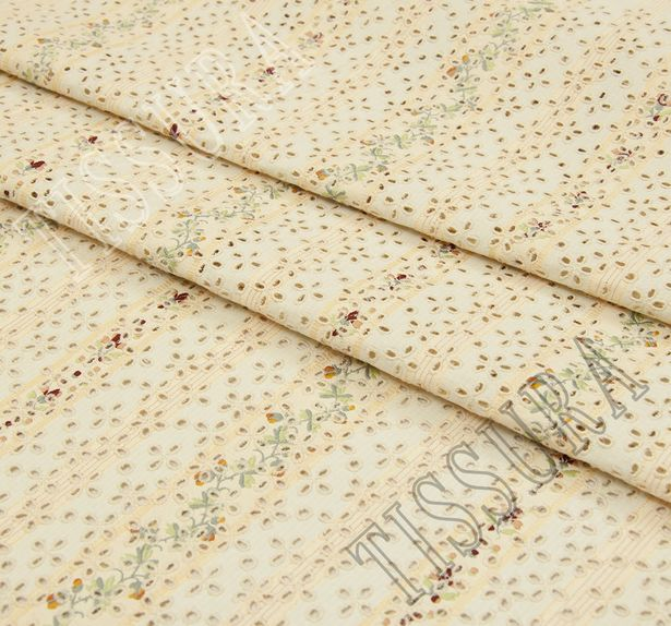 Embroidered Cotton Jacquard #1