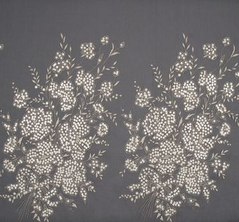 Sequined Embroidered Organza #1
