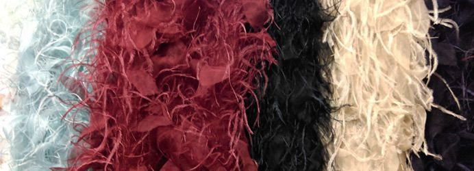 Luxury Embroidered Fabrics with Feathers