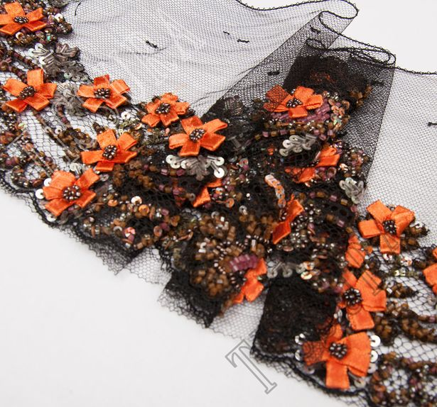 Embroidered Lace Trim #4