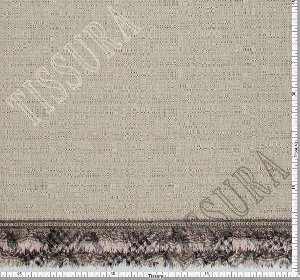 Tweed Fabric with Lace & Taffeta Border #2