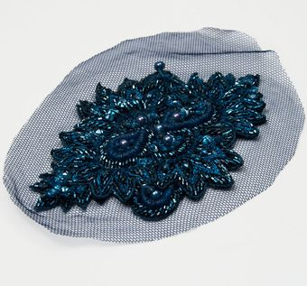 Embroidered Botanical Patch #1