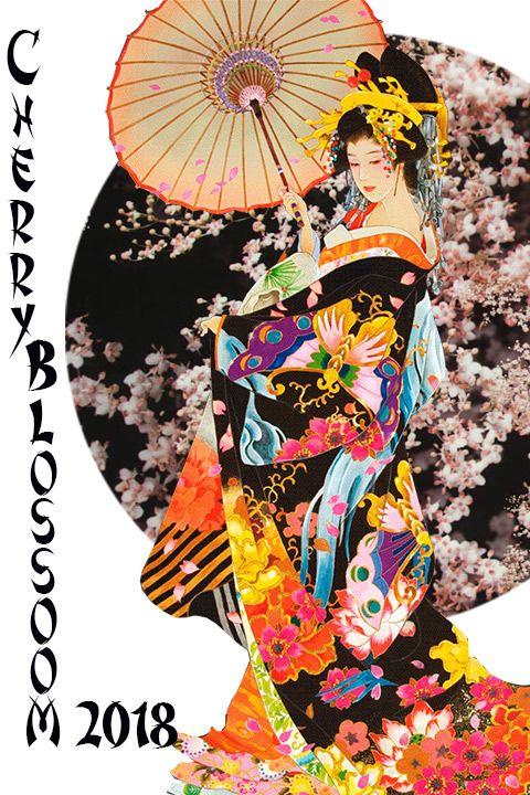 Cherry blossom print fabrics