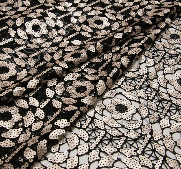 Sequined Guipure Lace #1