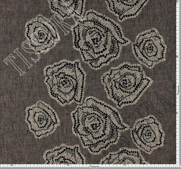 Floral Lace Appliqued Linen #2