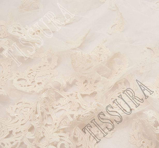 Embroidered Cutwork Tulle #4
