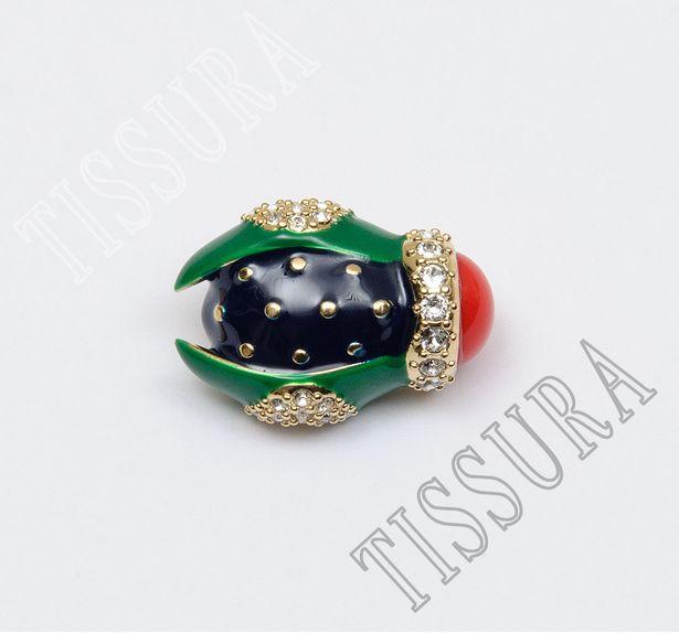 Rhinestone & Enamel Buttons #1