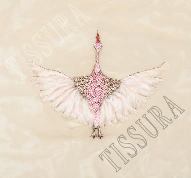 Feather & Crystal Embroidered Patch #3