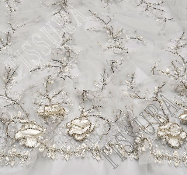 Sequined Embroidered Tulle #3