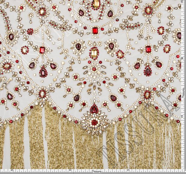 Rhinestone Embroidered Tulle #2