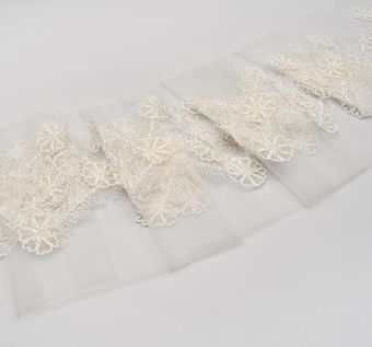 Beaded Applique Lace Trim #1