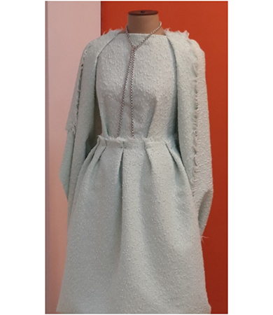 cotton boucle dress
