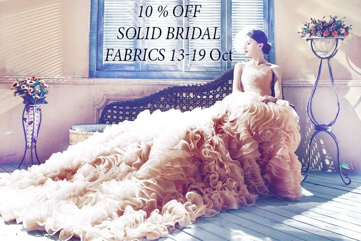 discount on solid bridal fabrics