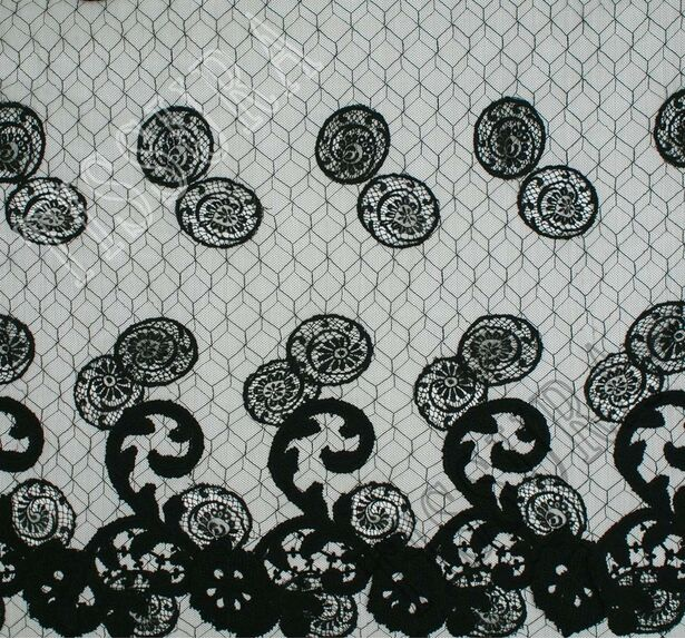 Spiral Embroidered Chantilly Lace #3