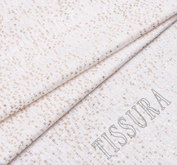 Sequined Boucle Fabric  #1