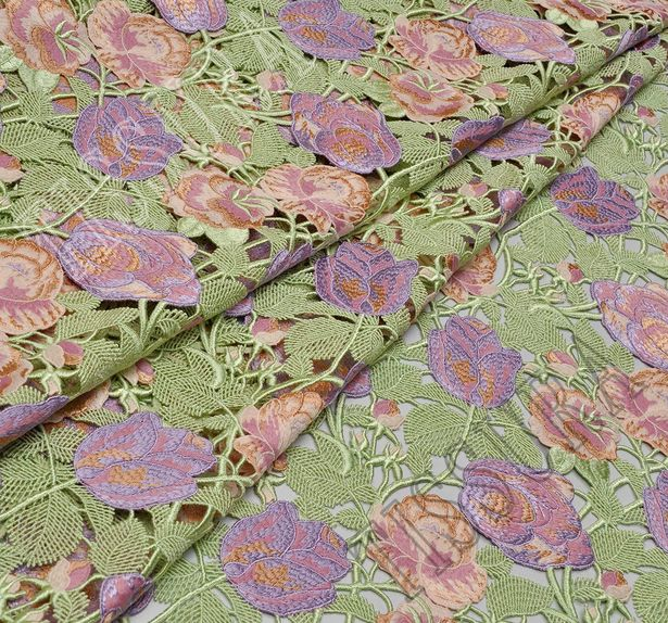 Embroidered Guipure Lace #1