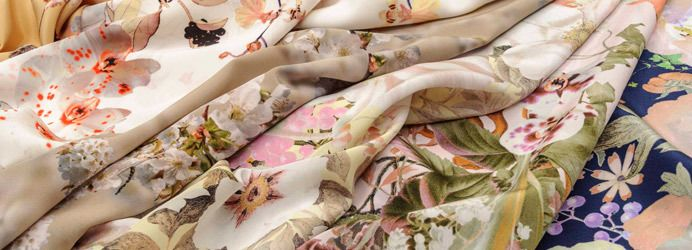 Swiss Designer Printed Silks by Jakob Schlaepfer