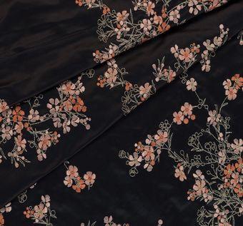 Designer Embroidered Silk Duchesse #1