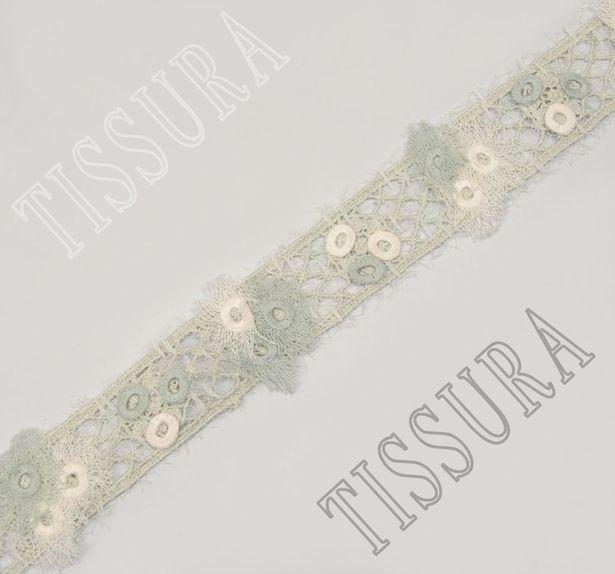 Embroidered Guipure Lace Trim #1
