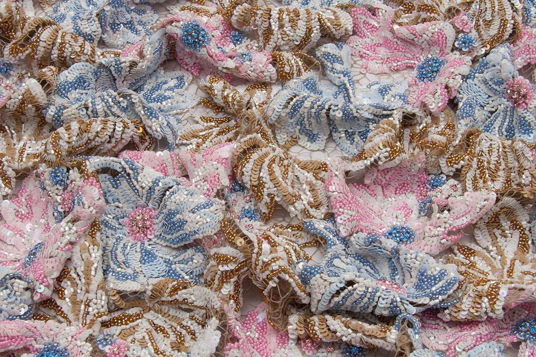 embroidered guipure lace fabric