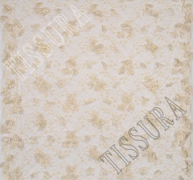 Applique Embroidered Chantilly Lace #3