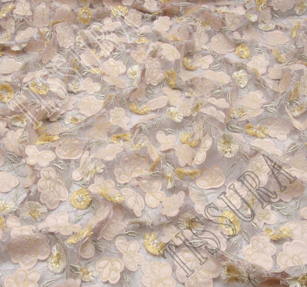 Floral Applique Embroidered Lace #4
