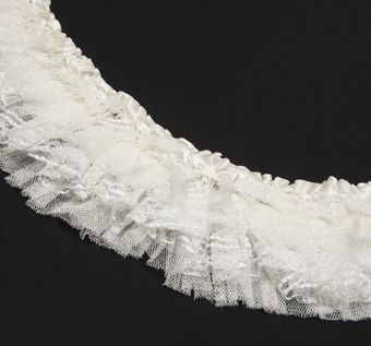 Beaded Pleated Lace Trim #1
