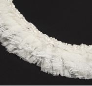 Beaded Pleated Lace Trim