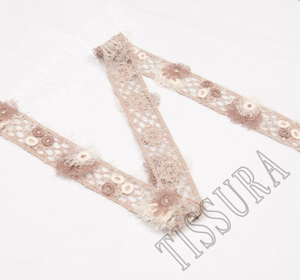 Embroidered Guipure Lace Trim #3
