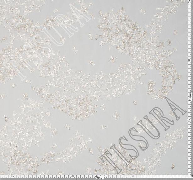 Embroidered Rhinestone Tulle  #2