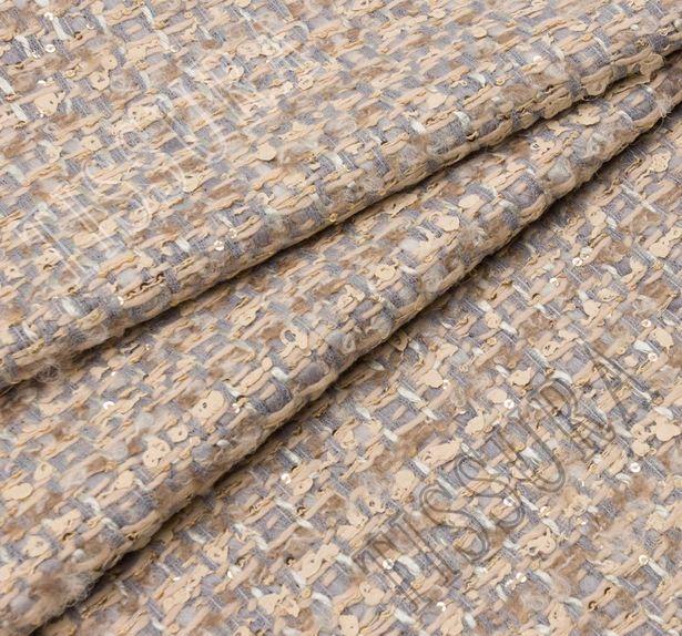 Sequined Wool Tweed Boucle #1